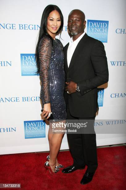 TV personality Kimora Lee Simmons and Actor Djimon Hounso attend the 3rd annual Change Begins Within benefit celebration held at the Los Angeles...