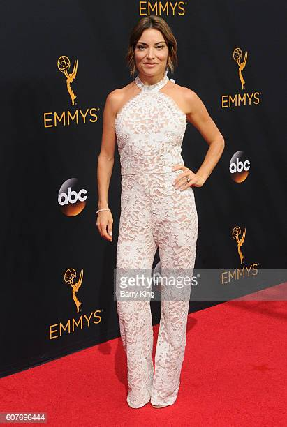TV personality Kit Hoover attends the 68th Annual Primetime Emmy Awards at Microsoft Theater on September 18 2016 in Los Angeles California