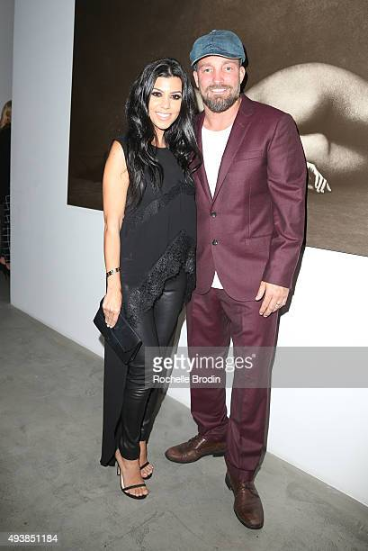 TV personality Kourtney Kardashian and celebrity photographer Brian Bowen Smith attend 'Metallic Life' by Brian Bowen Smith brought to you by...