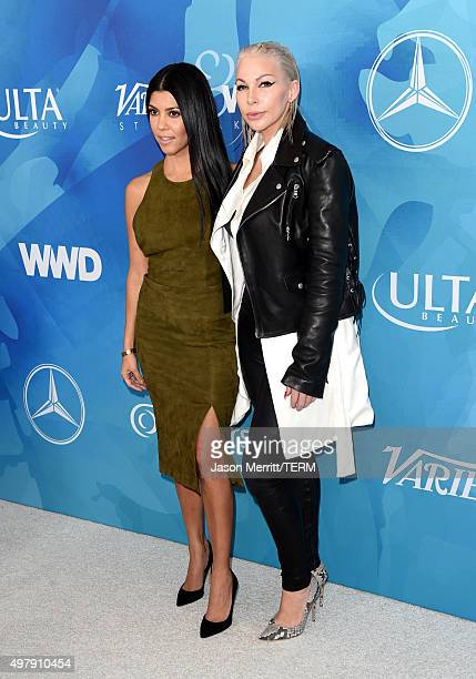 TV personality Kourtney Kardashian and honoree Joyce Bonelli attend the WWD And Variety inaugural stylemakers' event at Smashbox Studios on November...