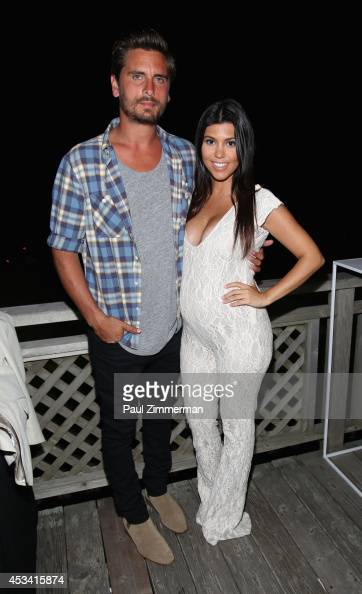 TV Personality Kourtney Kardashian and husband Scott ...
