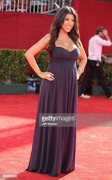 TV personality Kourtney Kardashian arrives at the 61st Primetime Emmy Awards held at the Nokia Theatre on September 20 2009 in Los Angeles California