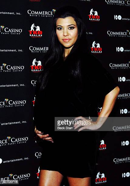 """Personality Kourtney Kardashian arrives to box for charity on """"Keeping up with the Kardashian's"""" Season 4 at Commerce Casino on November 3, 2009 in..."""