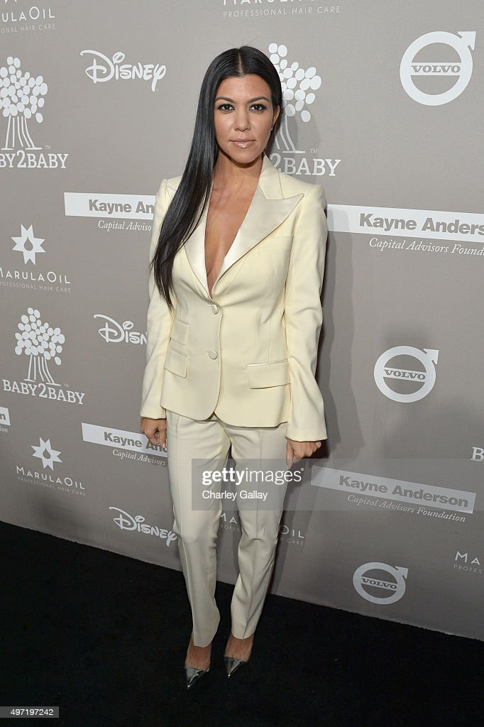 TV personality Kourtney Kardashian attends the 2015 Baby2Baby Gala presented by MarulaOil & Kayne Capital Advisors Foundation honoring Kerry Washington at 3LABS on November 14, 2015 in Culver City, California.