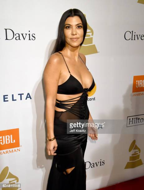 TV personality Kourtney Kardashian attends the 2017 PreGRAMMY Gala And Salute to Industry Icons Honoring Debra Lee at The Beverly Hilton Hotel on...