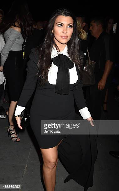 TV personality Kourtney Kardashian attends the after party for The Comedy Central Roast of Justin Bieber at Sony Pictures Studios on March 14 2015 in...