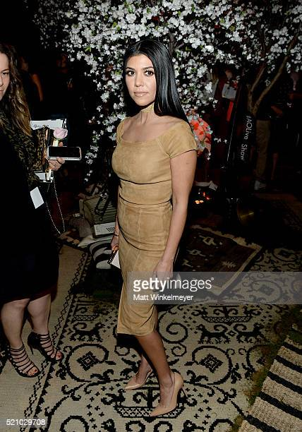 TV personality Kourtney Kardashian attends the alice olivia by Stacey Bendet and Neiman Marcus present SeeNowBuyNow Runway Show at NeueHouse Los...