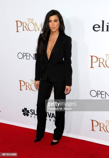 TV personality Kourtney Kardashian attends the premiere of Open Road Films' 'The Promise' at TCL Chinese Theatre on April 12 2017 in Hollywood...