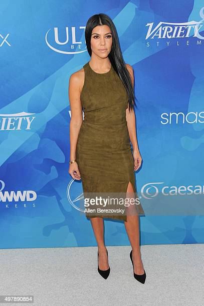 TV personality Kourtney Kardashian attends the WWD And Variety's Stylemakers Event at Smashbox Studios on November 19 2015 in Culver City California