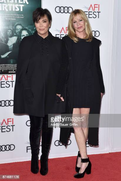 TV personality Kris Jenner and actress Melanie Griffith arrive at the AFI FEST 2017 presented by Audi screening of 'The Disaster Artist' at TCL...