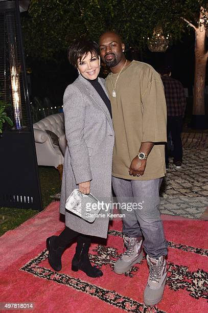 Personality Kris Jenner and Corey Gamble attend Barneys New York Jennifer Aniston and Tobey Maguire host a private dinner to celebrate The Barneys...