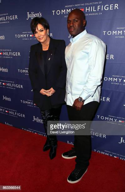 TV personality Kris Jenner and Corey Gamble attend Julien's Auctions and Tommy Hilfiger VIP reception on October 19 2017 in Los Angeles California