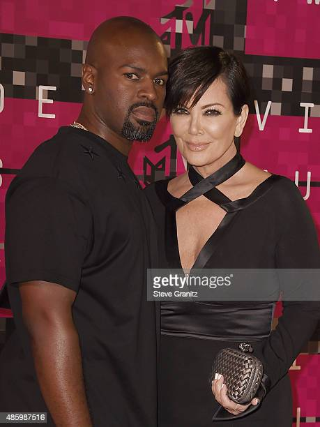TV personality Kris Jenner and Corey Gamble attend the 2015 MTV Video Music Awards at Microsoft Theater on August 30 2015 in Los Angeles California
