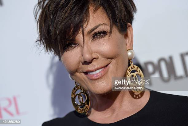 TV personality Kris Jenner arrives at Cosmopolitan Magazine's 50th Birthday Celebration at Ysabel on October 12 2015 in West Hollywood California