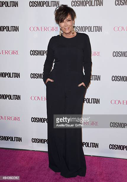 Personality Kris Jenner arrives at Cosmopolitan Magazine's 50th Birthday Celebration at Ysabel on October 12, 2015 in West Hollywood, California.