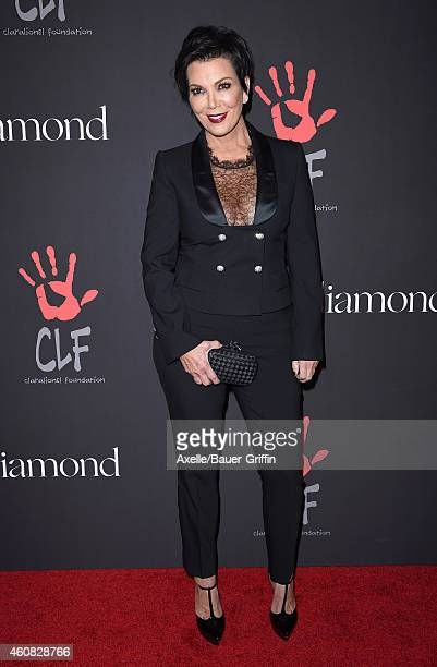 TV personality Kris Jenner arrives at Rihanna's First Annual Diamond Ball at The Vineyard on December 11 2014 in Beverly Hills California