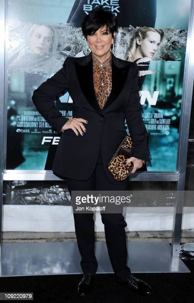 TV personality Kris Jenner arrives at the Los Angeles Premiere 'Unknown' at Mann Village Theatre on February 16 2011 in Westwood California