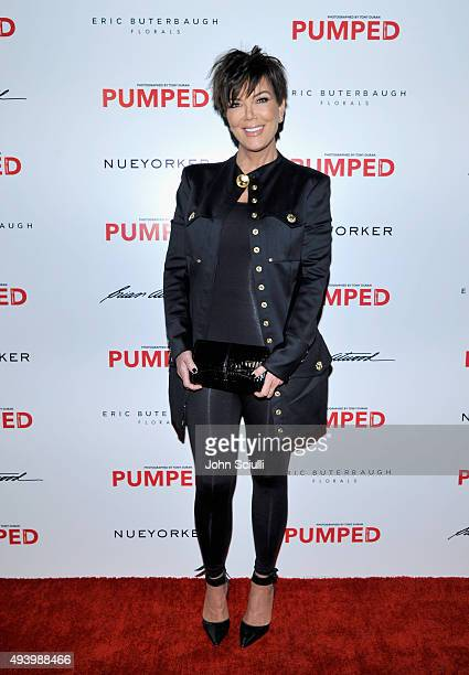 TV personality Kris Jenner attends Brian Atwood's Celebration of PUMPED hosted by Melissa McCarthy and Eric Buterbaugh on October 23 2015 in Los...