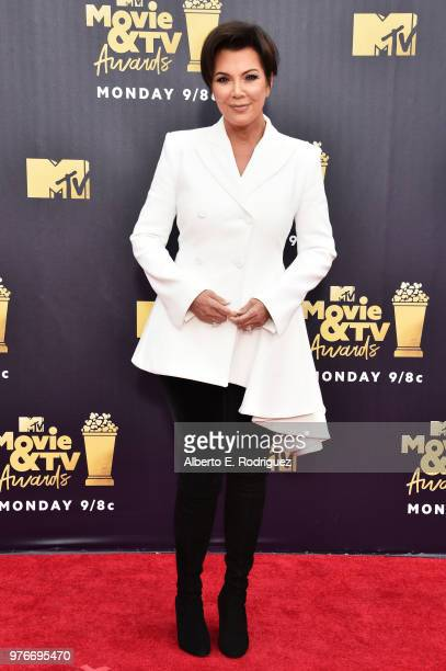 TV personality Kris Jenner attends the 2018 MTV Movie And TV Awards at Barker Hangar on June 16 2018 in Santa Monica California