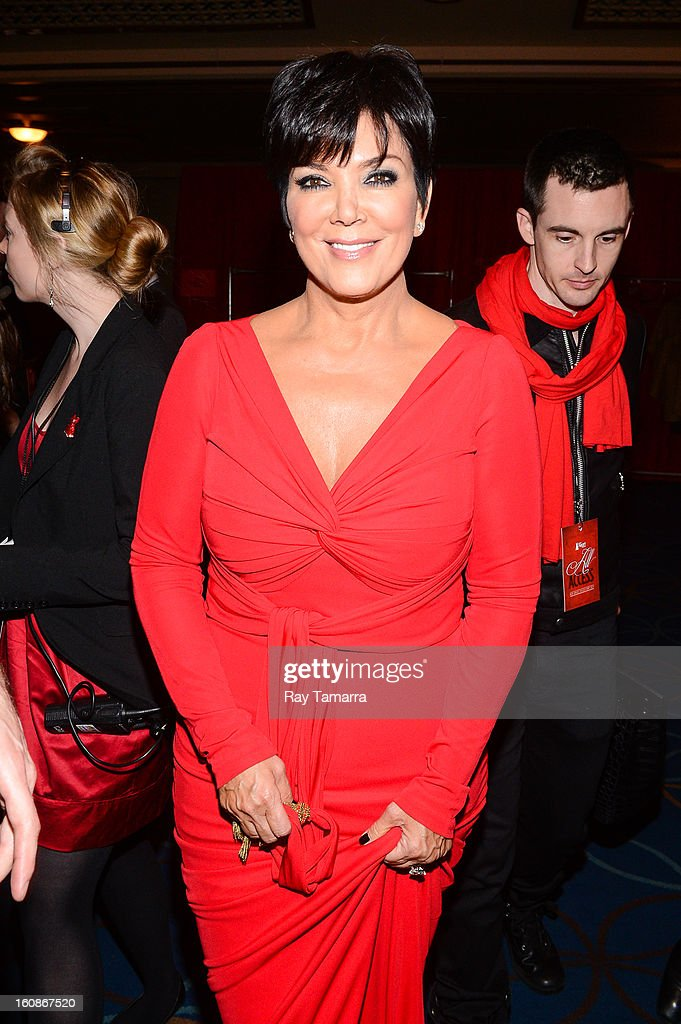 TV personality Kris Jenner attends The Heart Truth's Red Dress Collection Fall 2013 Mercedes-Benz Fashion Show at 499 Seventh Avenue on February 6, 2013 in New York City.