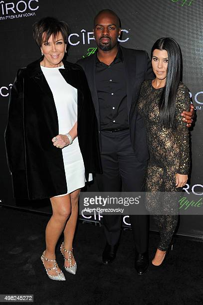 TV personality Kris Jenner Corey Gamble and TV personality Kourtney Kardashian attend Sean Diddy Combs' Exclusive Birthday Celebration on November 21...