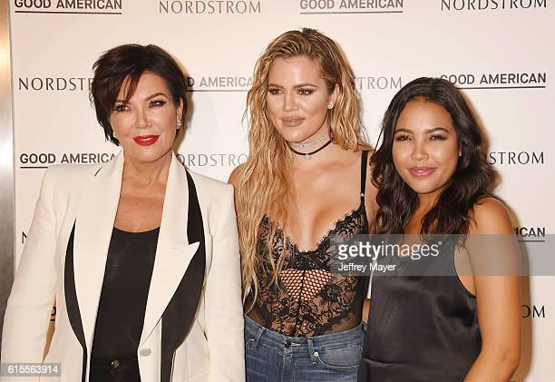 TV personality Kris Jenner Good American Founding Partners Khloe Kardashian and Emma Grede attend the Good American Launch Event at Nordstrom at the...