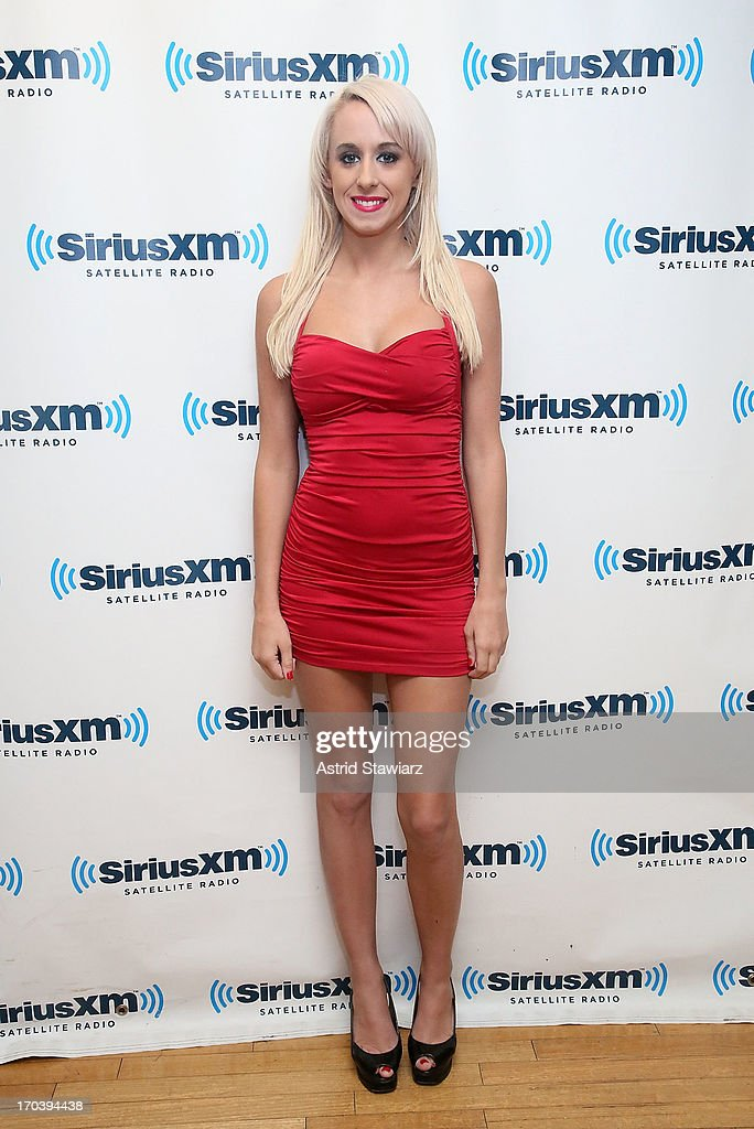 TV personality Krissy Summers visits the SiriusXM Studios on June 12, 2013 in New York City.