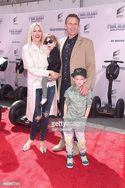 TV personality Kristen Taekman and Kingsley Taekman husband Josh Taekman and Cassius Taekman attend Paul Blart Mall Cop 2 New York Premiere at AMC...