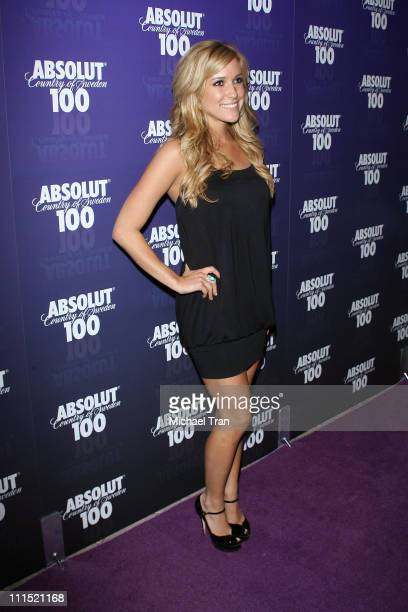 TV Personality Kristin Cavallari arrives at the 2008 Glow In The Dark Tour official afterparty hosted by Absolut 100 held at GOA nightclub on April...