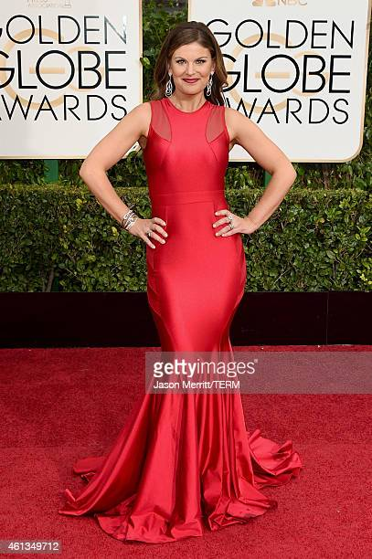 Personality Kristin Dos Santos attends the 72nd Annual Golden Globe Awards at The Beverly Hilton Hotel on January 11 2015 in Beverly Hills California