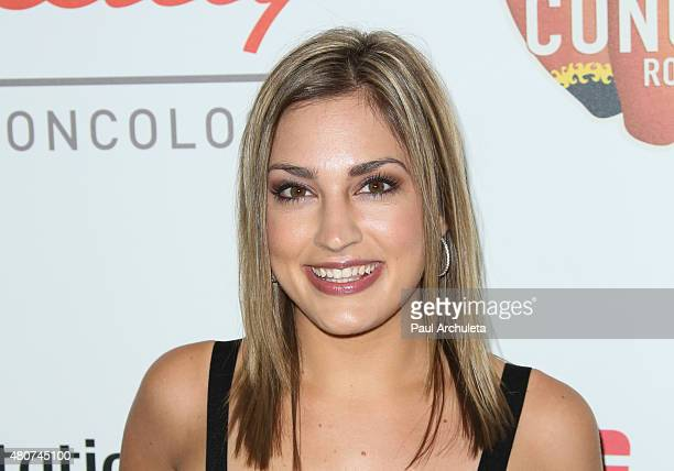 Personality Kristin Spodobalski attends the 2015 Sports Humanitarian Of The Year Awards at The Conga Room at LA Live on July 14 2015 in Los Angeles...