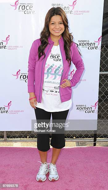 TV personality Kristina Guerrero attends the 14th Annual Susan G Komen LA County Race For The Cure at Dodger Stadium on March 14 2010 in Los Angeles...