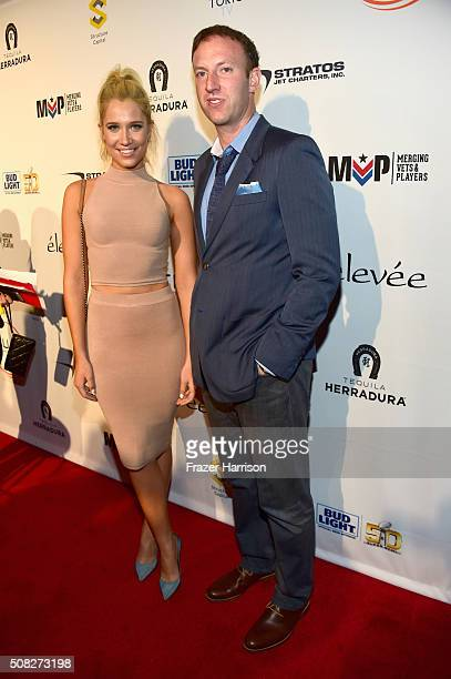 TV personality Kristine Leahy and President FOX Sports National Networks Jamie Horowitz attend Glazer Palooza and Suits and Sneakers on February 3...