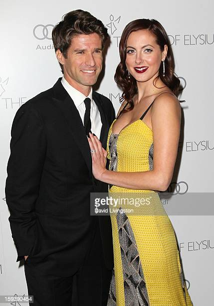 TV personality Kyle Martino and actress Eva Amurri Martino attend the Art of Elysium's 6th Annual Blacktie Gala Heaven at 2nd Street Tunnel on...