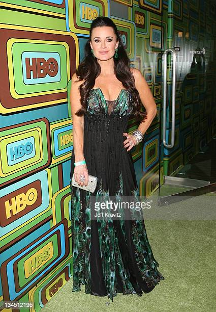 TV personality Kyle Richards arrives at HBO's 68th Annual Golden Globe Awards Official After Party held at The Beverly Hilton hotel on January 16...