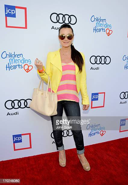 TV personality Kyle Richards arrives at the 1st Annual Children Mending Hearts Style Sunday on June 9 2013 in Beverly Hills California