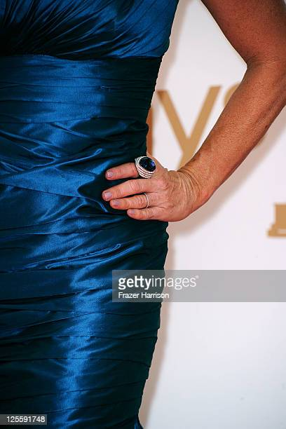 TV personality Kyle Richards arrives at the 63rd Annual Primetime Emmy Awards held at Nokia Theatre LA LIVE on September 18 2011 in Los Angeles...