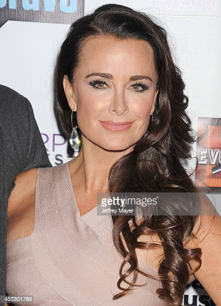 Personality Kyle Richards arrives at 'The Real Housewives Of Beverly Hills' And 'Vanderpump Rules' premiere party at Boulevard3 on October 23, 2013...