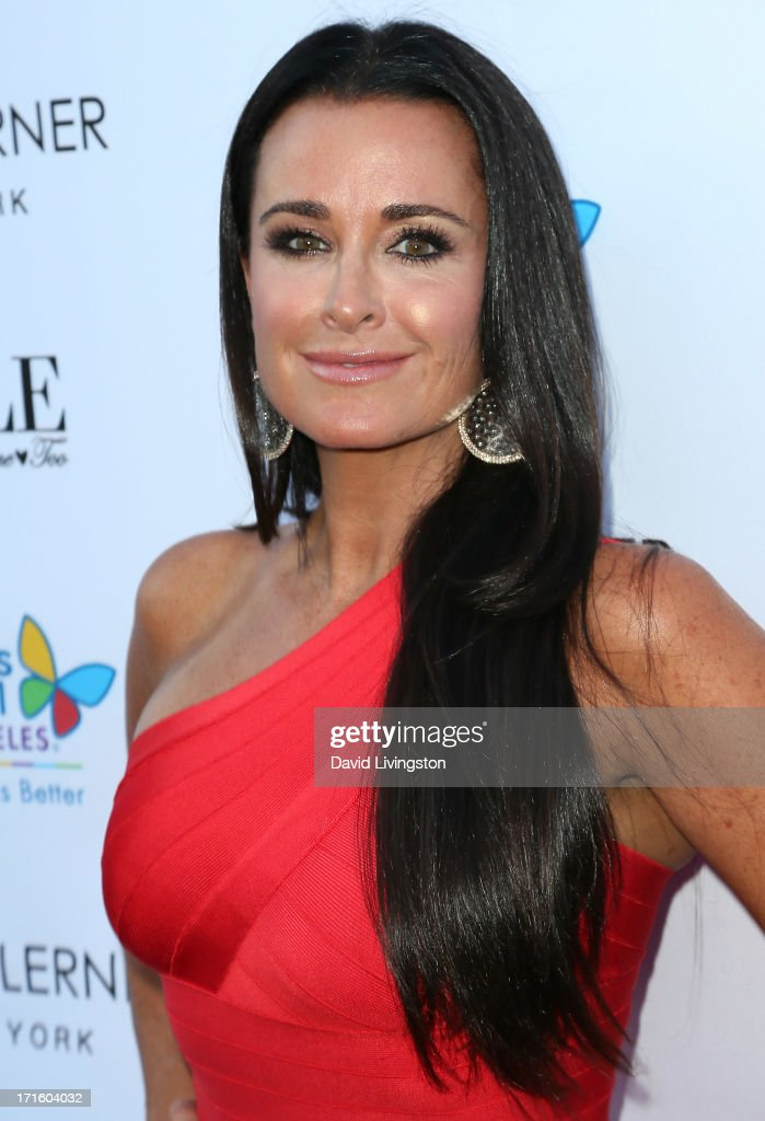 TV personality Kyle Richards attends a fashion fundraiser benefitting Children's Hospital of Los Angeles hosted by Kyle Richards at Kyle by Alene Too on June 26, 2013 in Beverly Hills, California.