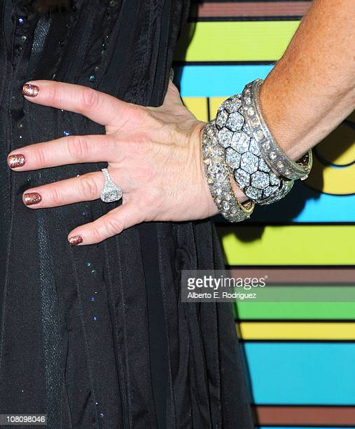 TV personality Kyle Richards attends HBO's Post 2011 Golden Globe Awards Party held at The Beverly Hilton hotel on January 16 2011 in Beverly Hills...
