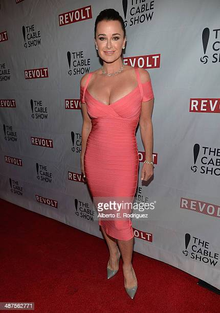 TV personality Kyle Richards attends REVOLT and The National Cable and Telecommunications Association's Celebration of Cable at Belasco Theatre on...