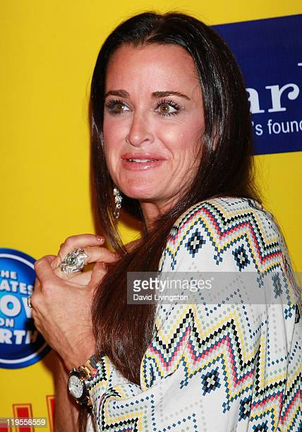 TV personality Kyle Richards attends Ringling Bros Barnum and Bailey Starlight Children's Foundation's premiere of Fully Charged at Staples Center on...
