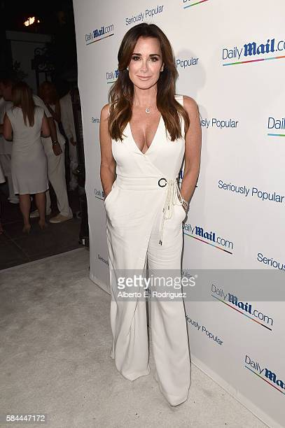 TV personality Kyle Richards attends the Daily Mail Summer White Party with Lisa Vanderpump at Pump on July 27 2016 in Los Angeles California