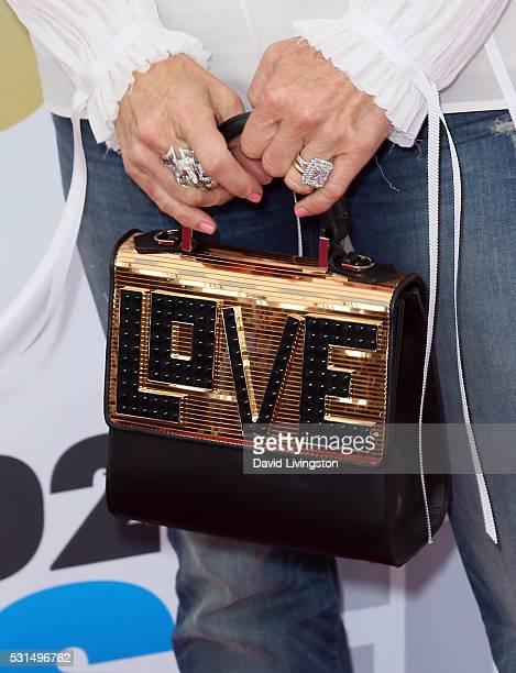 TV personality Kyle Richards purse detail attends 1027 KIIS FM's 2016 Wango Tango at StubHub Center on May 14 2016 in Carson California