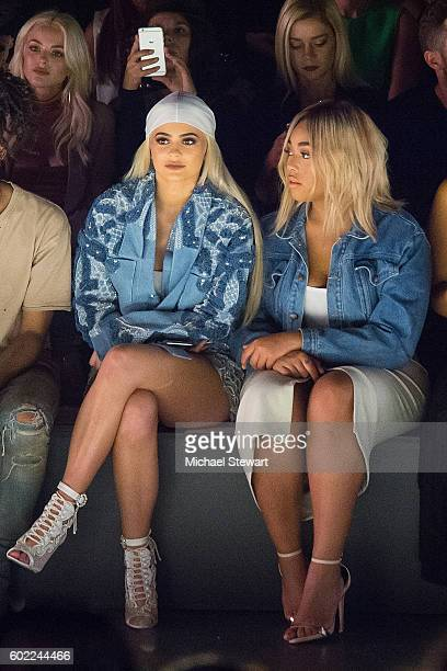 TV personality Kylie Jenner and Jordyn Woods attend the Jonathan Simkhai fashion show during September 2016 MADE Fashion Week The Shows at The Arc...