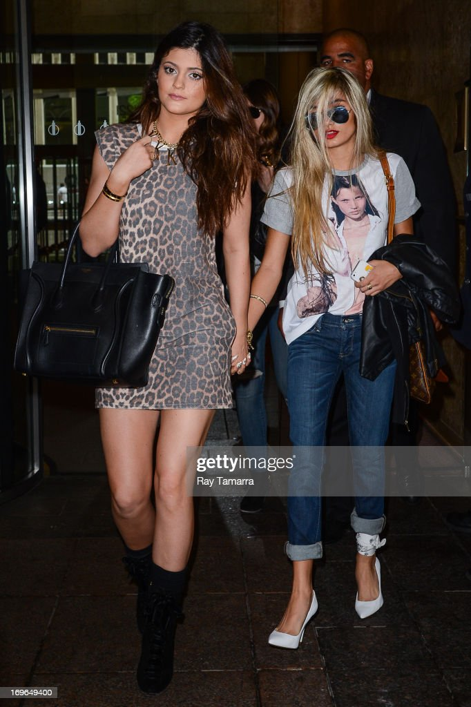 TV personality Kylie Jenner (L) and Pia Mia leave the Sirius XM Studios on May 29, 2013 in New York City.