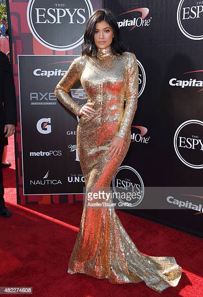TV personality Kylie Jenner arrives at The 2015 ESPYS at Microsoft Theater on July 15 2015 in Los Angeles California