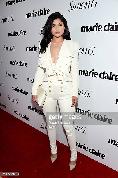 TV personality Kylie Jenner attends the Fresh Faces party hosted by Marie Claire celebrating the May issue cover stars on April 11 2016 in Los...