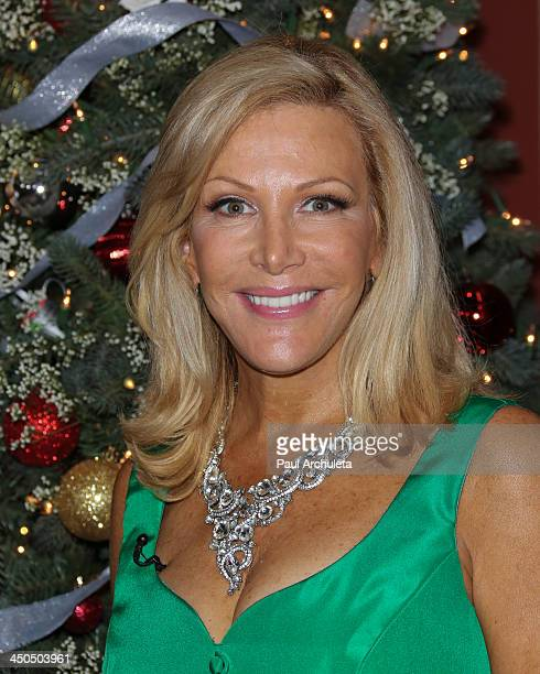 Personality Kym Douglas attends the Hallmark Channel's Home Family Holiday Special at Universal Studios Hollywood on November 18 2013 in Universal...