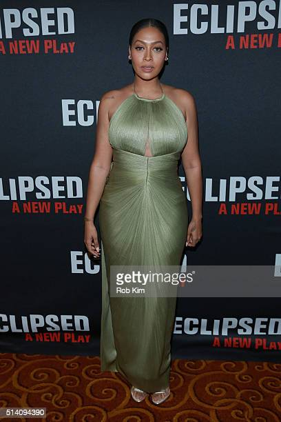 TV personality La La Anthony attends the Eclipsed broadway opening night after party at Gotham Hall on March 6 2016 in New York City